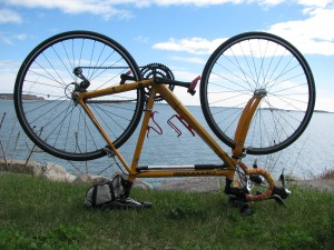 My overhauled bike overlooking Quincy Bay