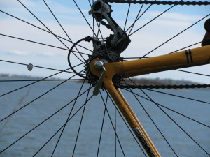 Hingham through the spokes