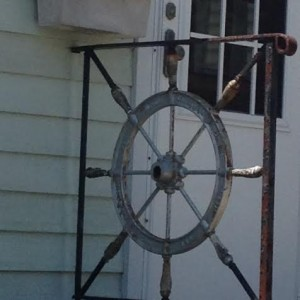 Boat Steering Wheel Entryway