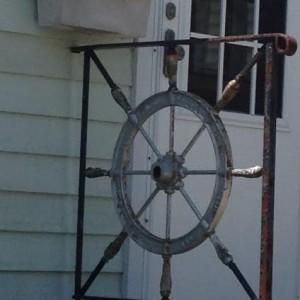 Boat Steering Wheel Entryway