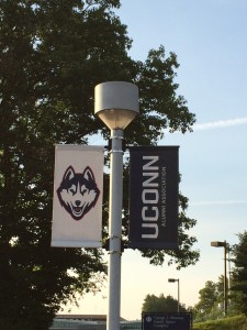 Day 2 am UConn flags